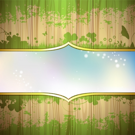 Wood background with window and sky Stock Vector - 16034060