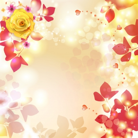 Romantic background for Valentine s day with hearts Stock Vector - 17610621