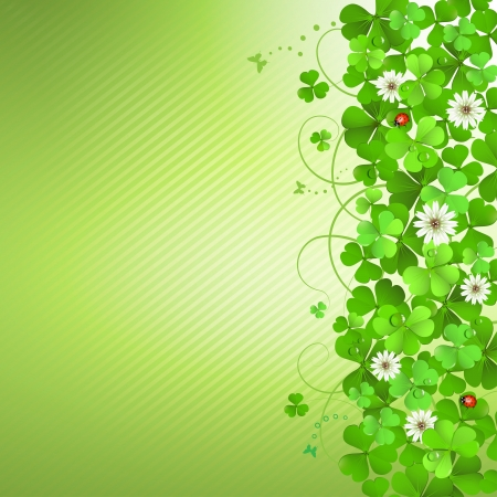 saint patrick   s day: Saint Patrick s Day background with clover
