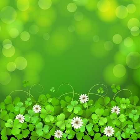 patrick's: Saint Patrick s Day background with clover
