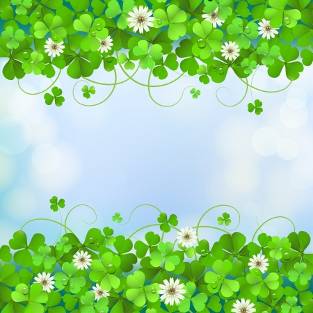 saint patrick��s day: Saint Patrick s Day background with clover