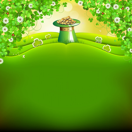 st patric: St  Patrick s Day card  Illustration
