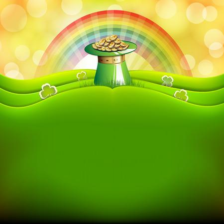 St  Patrick s Day card  Illustration