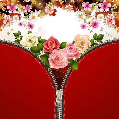unbuttoned: Metallic zipper with flowers