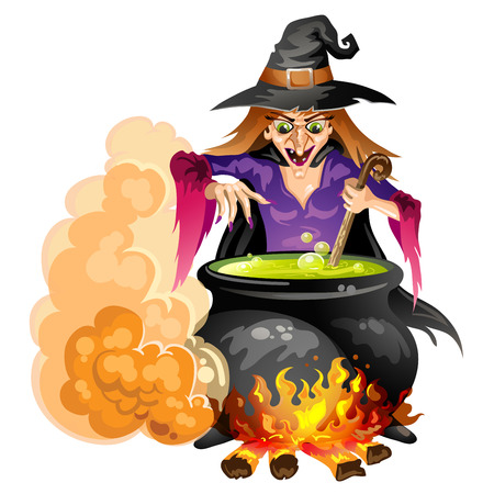 pocima: Preparar una poción de bruja Vectores