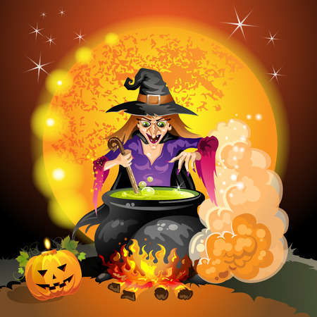 Witch preparing a potion