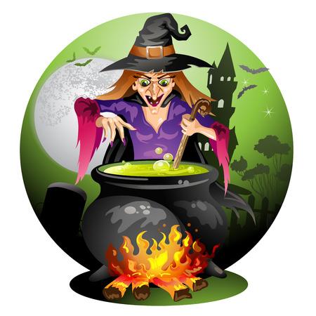 Witch de voorbereiding van een drankje