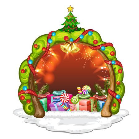 tree crown: Tree crown for Christmas with gifts