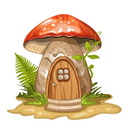 Casa en gnome hecho de hongo Foto de archivo - 37633649