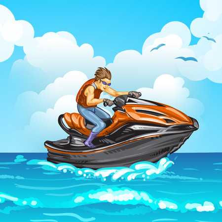 outboard: Jet scooter Illustration