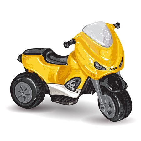 driewieler: Kinderen driewieler op een witte achtergrond Stock Illustratie