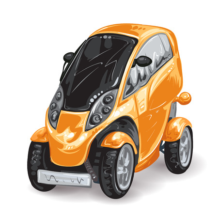 mini car: Future mini car Illustration