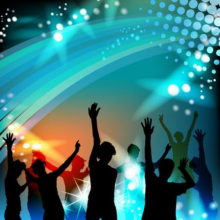 sagome di danza con luci da discoteca