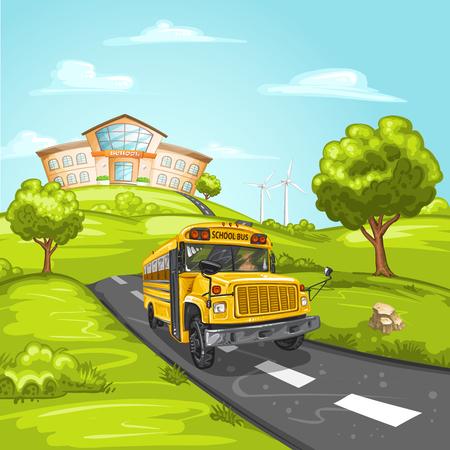 transporte escolar: autobús escolar y construcción de escuelas
