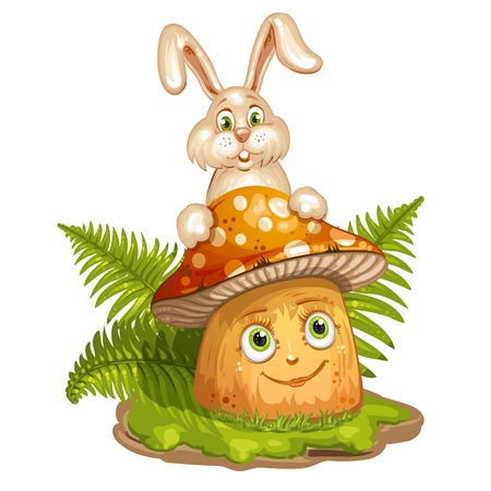 spore: Cartoon mushroom and rabbit