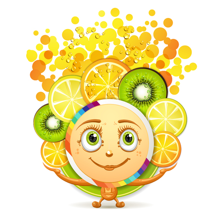 gastronomic: Slices of fruits with a smiley face