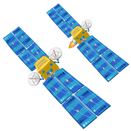 communications: Cartoon communications satellite