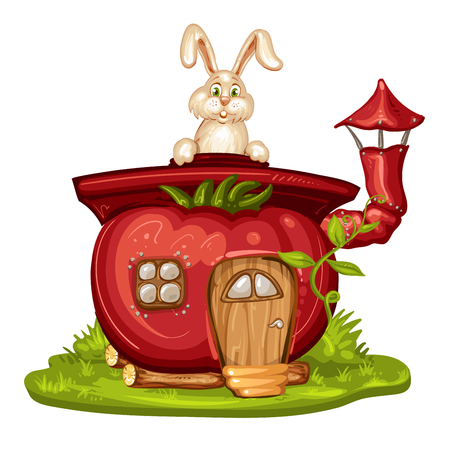 gnome: House for gnome made from tomato