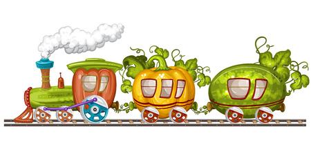 railway: Vegetables trains, wagons and rails