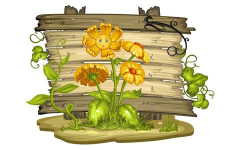 calendula: Cartoon flower with a smiling face