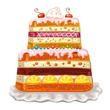 cake background: Cake happy birthday on white background