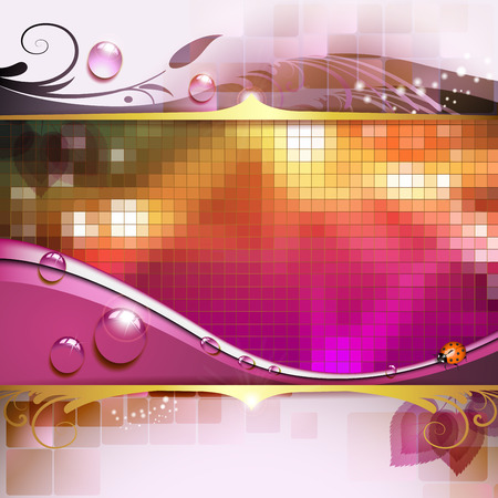 Abstract background with elegant leaves Archivio Fotografico - 99616259