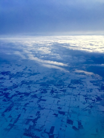 persepective: Snow sky Stock Photo