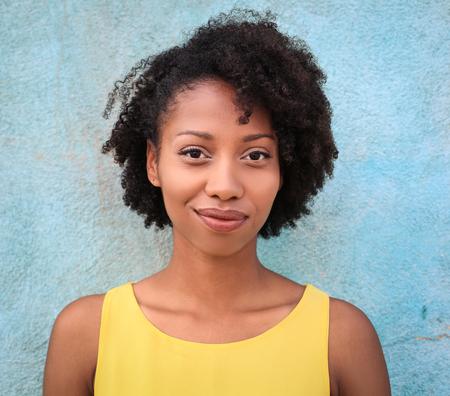 Portrait of a beautiful black skin girl