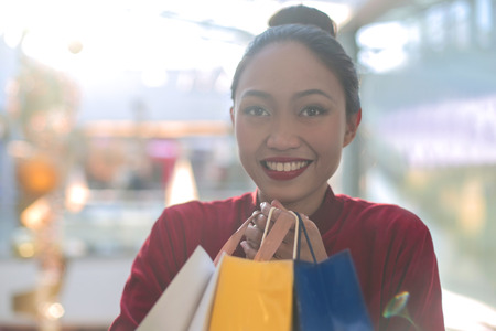 Philippine girl is shopping