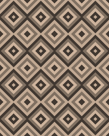 Beige brown square seamless background. Vector illustration.