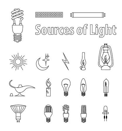 light source: Vintage Light Bulbs Illustrations. Illustration. Source of Light.