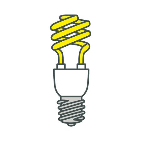 fluorescent light: Energy saving fluorescent light bulb. illustration.