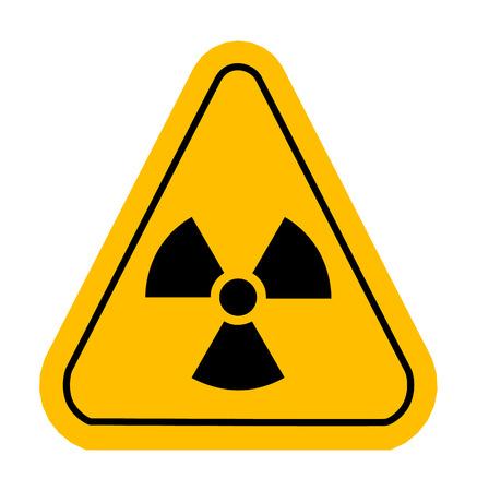 poison arrow: Radiation sign in yellow triangle. Vector illustration. Illustration