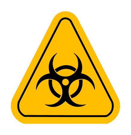 symbole chimique: Icône d'avertissement dans le triangle jaune. Vector illustration. Biohazard.