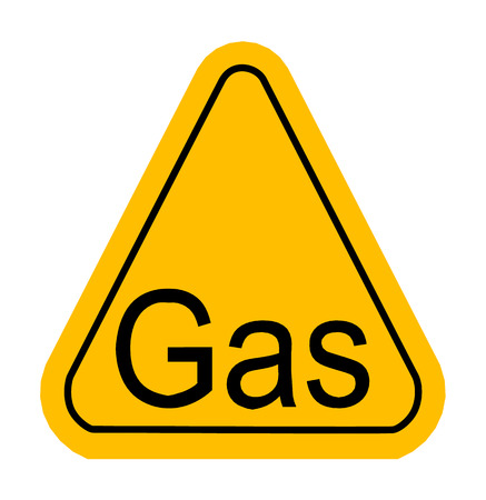 poison arrow: Warning icon of Gas in yellow triangle. Vector illustration Illustration