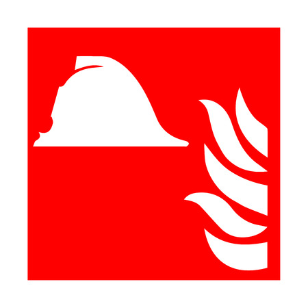 green exit emergency sign: Vector fire emergency icons. Signs of evacuations. Fire marshal Illustration
