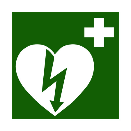 medicine chest: Vector fire emergency icons. Signs of evacuations. Doctor, emergency medicine chest  in green.