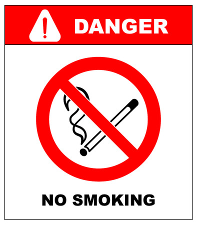 harming: No smoking, No open flame, No matches. Fire, open ignition source and smoking prohibited signs. Dangerous symbols set. Warning sheet. Exclamation point.