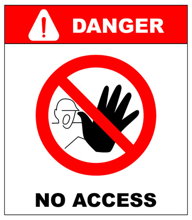 danger do not cross: vector sign. only for authorized person. no access. no entry. danger symbol. warning sheet. exclamation point.