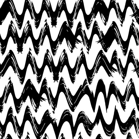 crimp: Seamless pattern with spiral curls and waves.  grangy doodle.