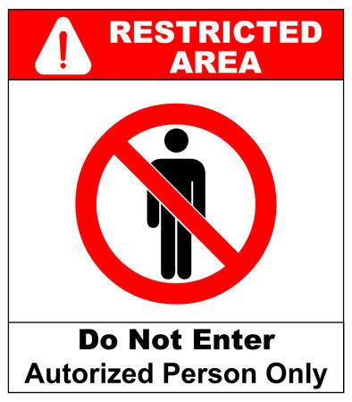 no pase: Vector Círculo Prohibida símbolo de área restringida para solamente o No miembro incorpore la muestra de la precaución Zona aislado en blanco