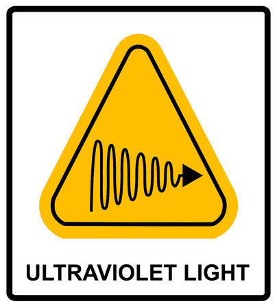 light skin: Intensity Ultraviolet Light Protect Your Eyes and Skin UV Vector sticker label for public places Illustration