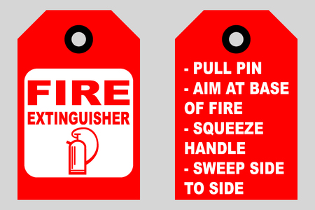 How To Use A Fire Extinguisher Informational Tags Front And Back