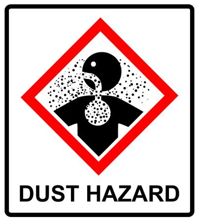 hazard sign: Danger banner Dust Hazard sign Illustration