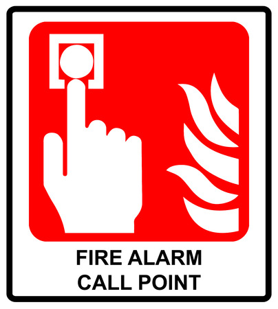 Fire Alarm Call Point Vector Symbol For Emergency Sticker Label