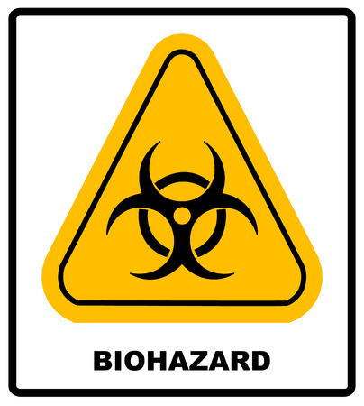Biohazard Symbol Sign Of Biological Threat Alert Vector Biohazard