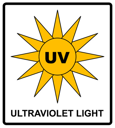 intensity: Intensity Ultraviolet Light Protect Your Eyes UV Vector sticker label for public places Illustration