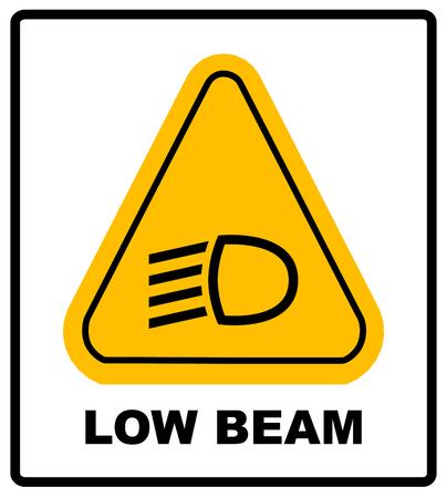 Abblendlicht symbol