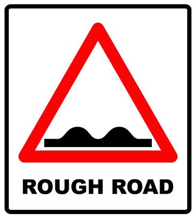 Straße, Zeichen, raues Ikonenvektorbild. Kann auch für Verkehrszeichen verwendet werden. Vektorillustration im roten Dreieck getrennt auf Weiß. Geeignet für Web-Apps, mobile Apps und Printmedien. Standard-Bild - 69028639