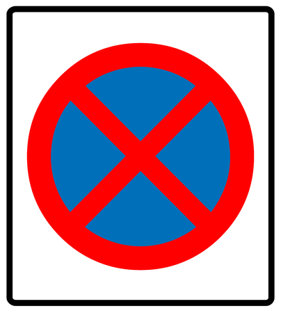 carriageway: Clearway sign. Vector illustration
